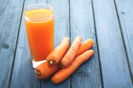 a cold fresh an sweet carrot juice