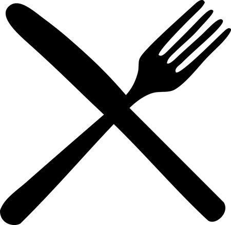 cuchillo y tenedor: Tenedor y cuchillo cruzado