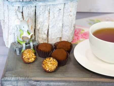 healthy energy protein bars and almond apricot truffles 写真素材