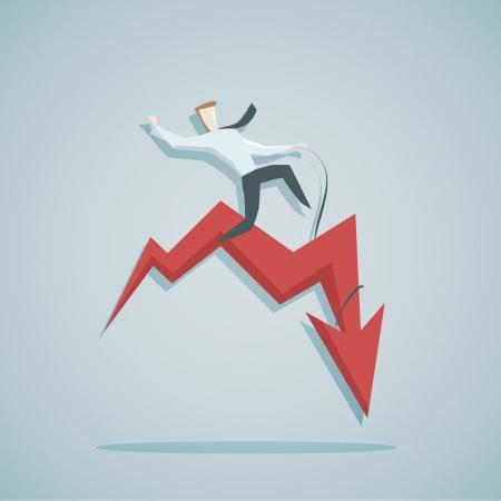 実業家と diagramm 不安定性概念のベクトル イラスト
