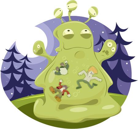 Vector illustration of Jelly Monster Vector