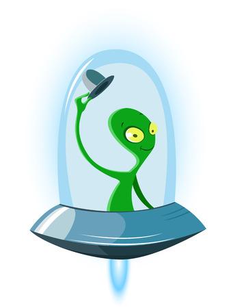 Vector illustration of Alien