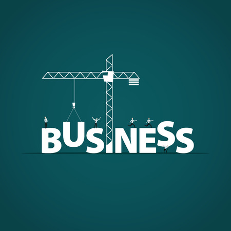construction firm: Business concept vector.
