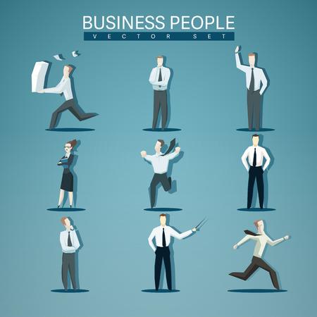 分離されたビジネス人々 のベクター セット