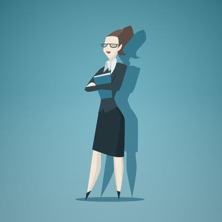 zakelijke vrouw: Zakenvrouw vector geïsoleerd.
