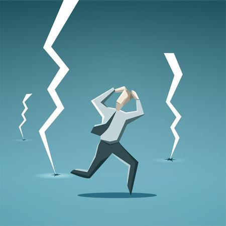 Businessman in crisis.  Ilustração