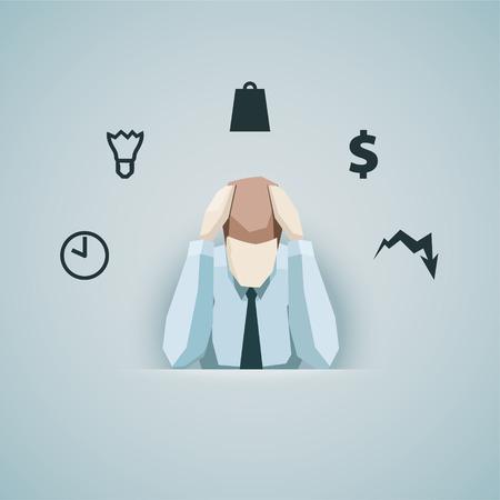 Business concept - Homme d'affaires dans le vecteur de stress. Banque d'images - 40749587