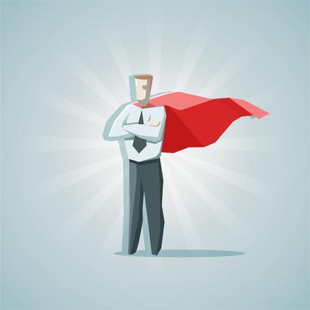 ビジネスマンのスーパー ヒーロー