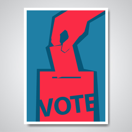 ballot box: Vector vote election cover design template