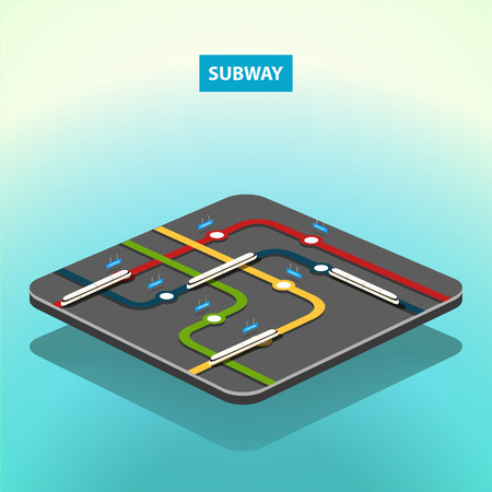 subway station: Vector isometric subway concept map. EPS 10 file