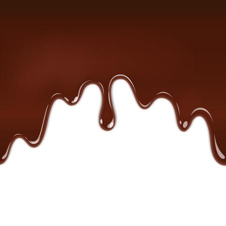 El chocolate está fluyendo hacia abajo. EPS 10 archivos