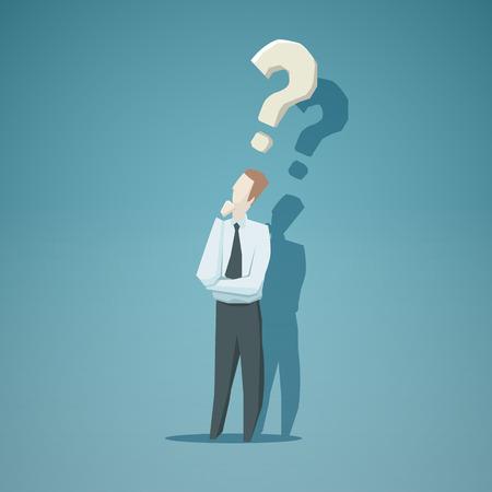 Dilemma van zakenman. EPS-10-bestand