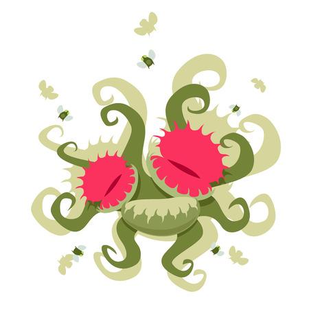 insectivorous: Dionaea muscipula. EPS 8 file