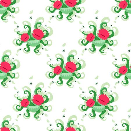 insectivorous: Dionaea muscipula pattern. EPS 8 file Illustration