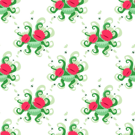 Dionaea muscipula pattern. EPS 8 file Illustration