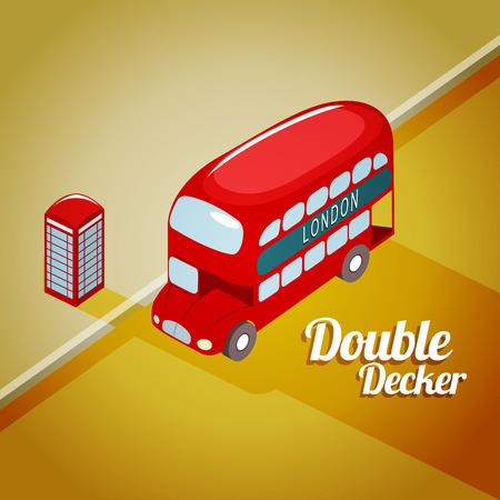 double decker bus: Vector illustration of London Double decker bus. EPS 10 file