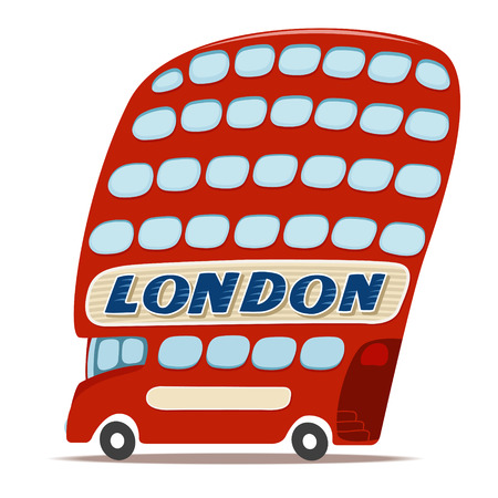 bus anglais: Vector illustration de la double decker