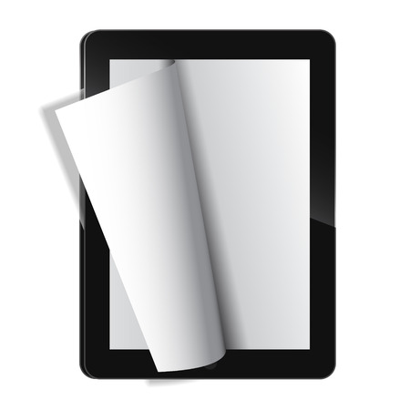 flipping: Electronic journal template vector. EPS 10 file