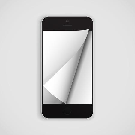 page turn: Electronic publishing smartphone edition Illustration