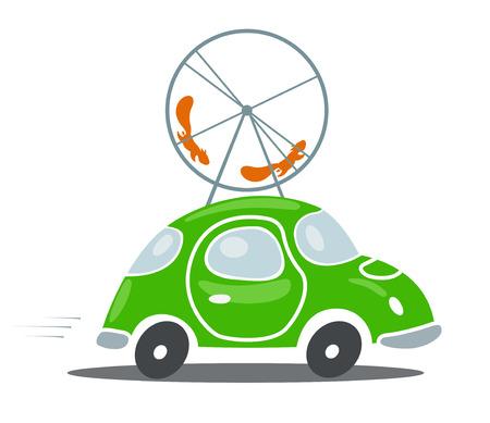environmentally: Vector illustration of Environmentally friendly transport