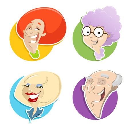 eps 10: Cartoon faces. EPS 10 file Illustration