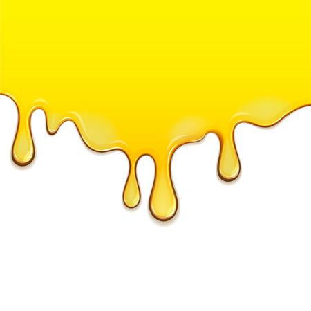 aceite de oliva: El fluir abajo miel. EPS 10 archivos