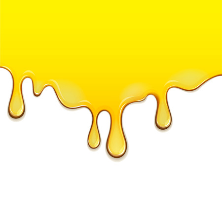Flowing down honey. EPS 10 file
