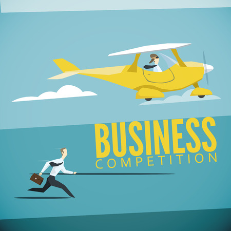 business competition: Vector illustration of business competition. EPS 10 file
