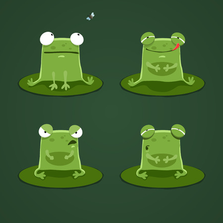 frog green: Funny frogs set two. EPS 10 file