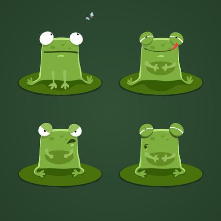grenouille: Grenouilles drôles mis deux. EPS 10 fichier