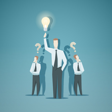 looking for a job: Business concept - Idea. EPS 10 file