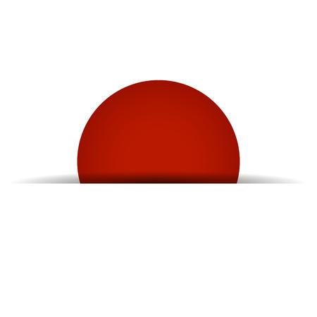 raise the white flag: Japan flag concept. EPS 10 file Illustration