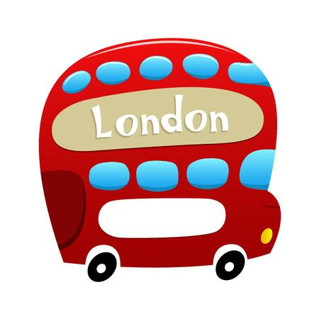 cartoon bus: London Double Decker Bus.