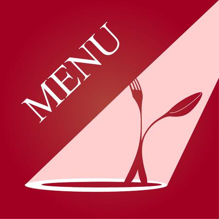 pareja comiendo: Tarjeta del menú. EPS 10 archivos