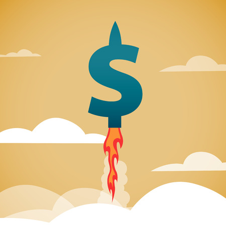 signo pesos: El rápido crecimiento del dólar. EPS 10 archivos