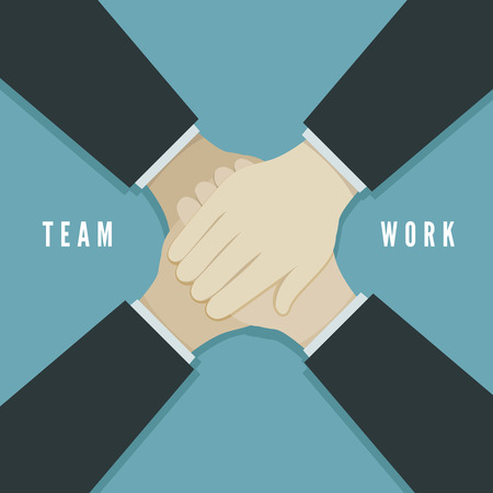team working: Teamwork concept vector illustration. EPS 10 file Illustration