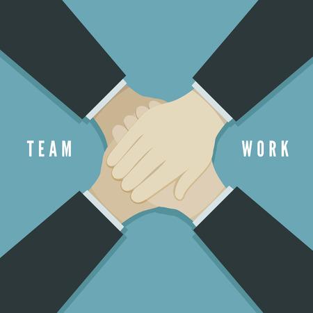 business partnership: Teamwork concept vector illustration. EPS 10 file Illustration