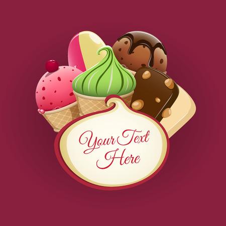 helado de chocolate: Fondo helado. EPS 10 archivos