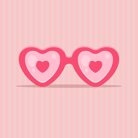 Love glasses in shape of heart - Valentines day concept. EPS 10 file