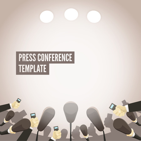 press conference: Press conference template. EPS 10 file.