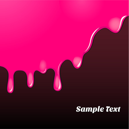 splatter paint: Magenta oil paint pattern. EPS 10 file Illustration