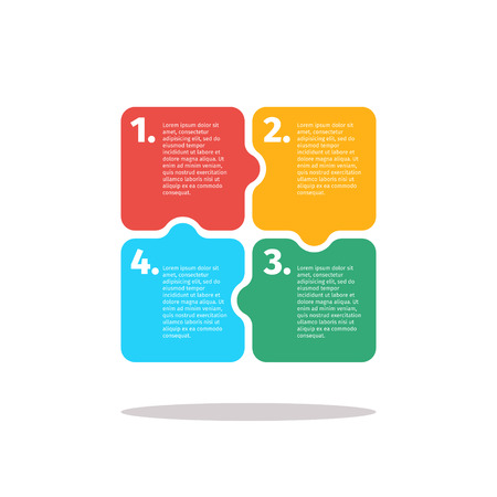chapter: Vector infographics design in puzzle style isolated