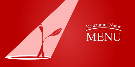 pareja comiendo: Diseño de la tarjeta del menú. EPS 10 archivos Vectores