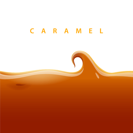 toffee: Vector caramel background. EPS 10 file