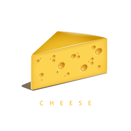 Vector illustration of the piece of cheese. EPS 10 file