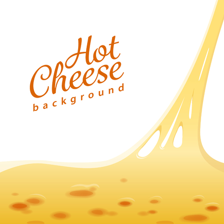 Hot cheese on the top of the pizza vector background. EPS 10 file Illustration