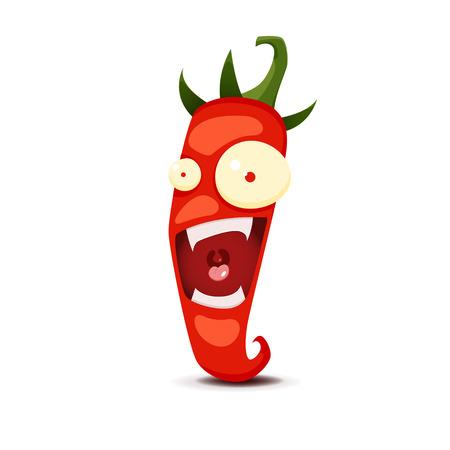 chili pepper: Cartoon Hot chili pepper vector illustration. EPS 10 file