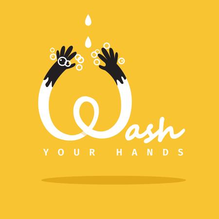 Wash your hands vector poster. EPS 10 file Illustration