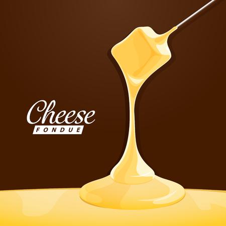 Pyszne tradycyjne szwajcarski ser fondue. EPS 10