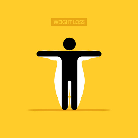 Weight loss concept vector illustration.